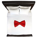 Bow Tie Red King Duvet