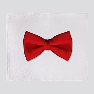 Bow Tie Red Throw Blanket