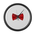 Bow Tie Red Large Wall Clock