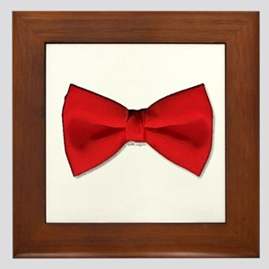 Bow Tie Red Framed Tile