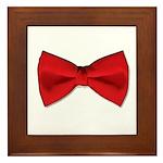 Bow Tie Red Framed Tile