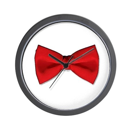 Bow Tie Red Wall Clock