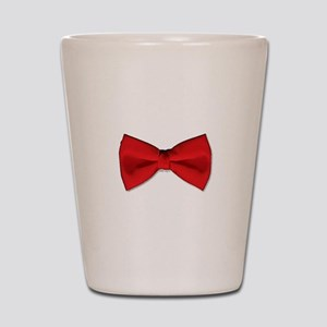 Bow Tie Red Shot Glass