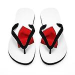 Bow Tie Red Flip Flops