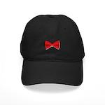 Bow Tie Red Black Cap
