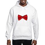 Bow Tie Red Hooded Sweatshirt
