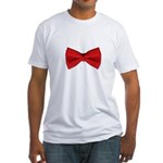 Bow Tie Red Fitted T-Shirt