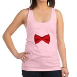 Bow Tie Red Racerback Tank Top