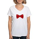 bowtie2 Women's V-Neck T-Shirt