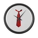 Long Tie Large Wall Clock