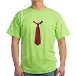 Long Tie Green T-Shirt