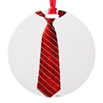 Long Tie Round Ornament