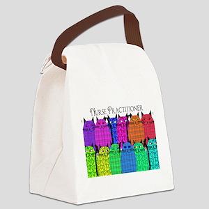 Nurse Practitioner CATS Canvas Lunch Bag