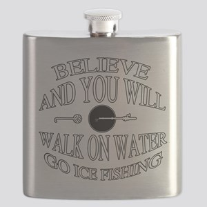 Believe ice fishing Flask