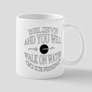 Believe ice fishing Mug