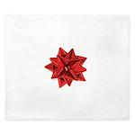 Gift Bow Red King Duvet
