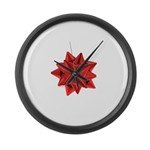 Gift Bow Red Large Wall Clock