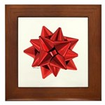 Gift Bow Red Framed Tile