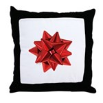 Gift Bow Red Throw Pillow