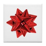Gift Bow Red Tile Coaster