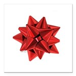 Gift Bow Red Square Car Magnet 3