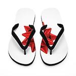Gift Bow Red Flip Flops