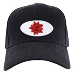 Gift Bow Red Black Cap