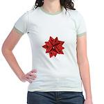 Gift Bow Red Jr. Ringer T-Shirt