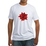 Gift Bow Red Fitted T-Shirt