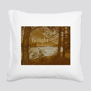 Twilight Breaking Dawn Square Canvas Pillow
