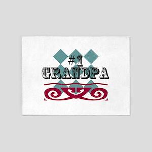 #1 Grandpa 5'x7'Area Rug
