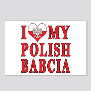 I Heart My Polish Babcia Postcards (Package of 8)
