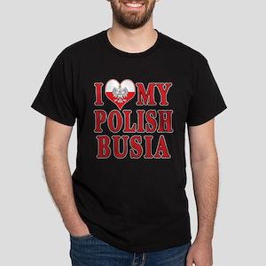 I Heart My Polish Busia Dark T-Shirt