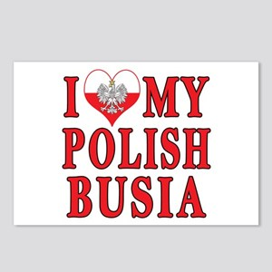 I Heart My Polish Busia Postcards (Package of 8)