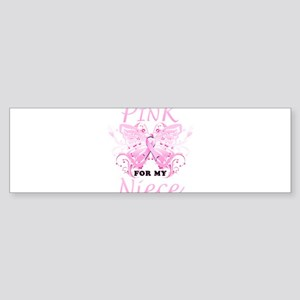 I Wear Pink For My Niece Butterfly Bumper Sticker