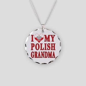 I Heart My Polish Grandma Necklace Circle Charm
