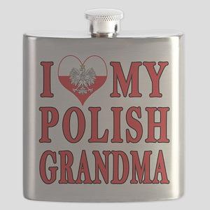 I Heart My Polish Grandma Flask