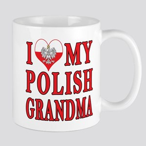 I Heart My Polish Grandma Mug