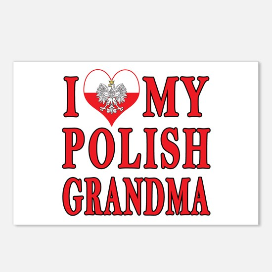 I Heart My Polish Grandma Postcards (Package of 8)