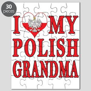 I Heart My Polish Grandma Puzzle