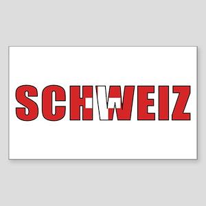 Switzerland (German) Rectangle Sticker