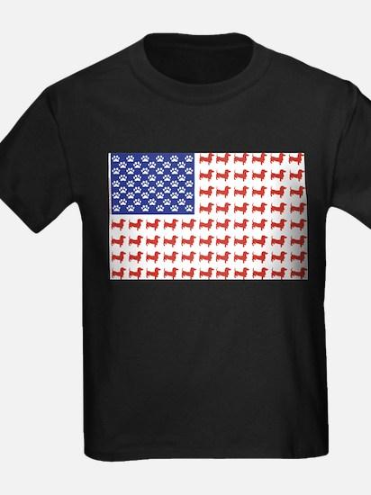 Dachshund Patriotic Flag T-Shirt
