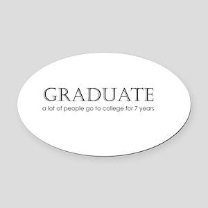 2-Graduate2 Oval Car Magnet