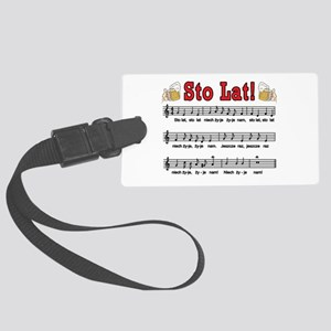 Sto Lat! Song With Beer Mugs Large Luggage Tag