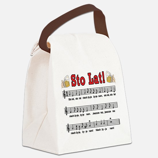 Sto Lat! Song With Beer Mugs Canvas Lunch Bag