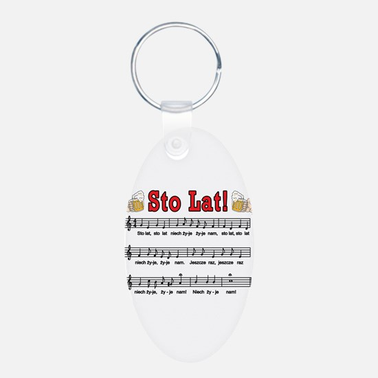 Sto Lat! Song With Beer Mugs Keychains