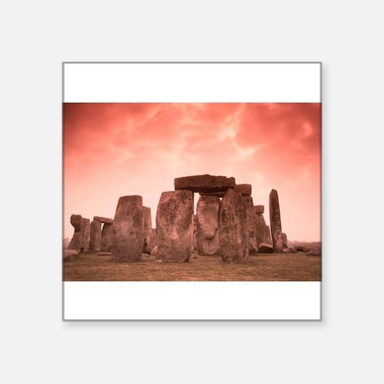 "Stonehenge #4 Square Sticker 3"" x 3"""