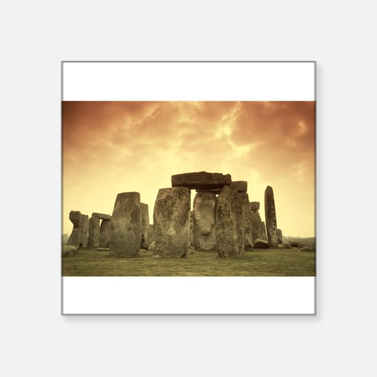 "Stonehenge #5 Square Sticker 3"" x 3"""