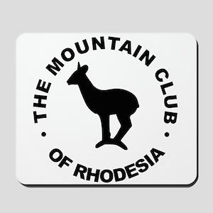 Rhodesia Mountain club black Mousepad
