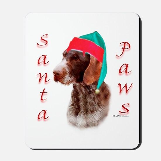 Santa Paws Wirehaired Pointer Mousepad